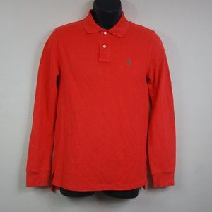 Ralph Lauren Polo Boys Long Sleeve Polo Orange